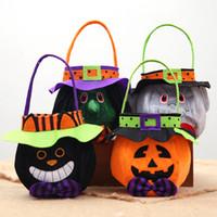 Тыква Сумка Hallowmas Мешки подарочных пакеты Candy Bag Шутка или угощение для детей Детей Halloween Party Favor Организатор RRA2143