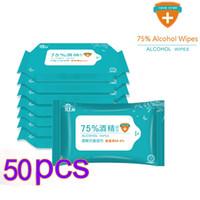 50 borse portatile disinfezione tamponi antisettici tamponi imbevuti di alcol salviette per la pulizia della pelle cura di sterilizzazione di Primo Soccorso di pulizia del tessuto