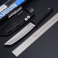 2019 Llegada Cold Steel 17T KOBUN Tanto Point Satin Blade Survival Straight cuchillo Utility Fixed Blade Knife Outdoor Camping Hunting Tools