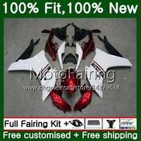Инъекции для Honda CBR600F4i CBR600F красный белый 11 12 13 14 72MF10 ЦБР 600 Ф ЦБ РФ 600F F4i CBR600 Ф 2011 2012 2013 2014 обтекатель кузова