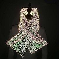 Женщины зима теплый светоотражающий шарф Леди открытый мода градиент шарфы девушка плед шарф партия пользу 1шт RRA2199