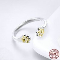 Fashionable Sterling Silver Gold Cat Paw Footprint Ring Open...