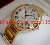 Luxus Hohe Qualität 42mm 18 Karat Gelbgold Automatische Mechanische Bewegung Herrenuhren MARKE NEUE Männer Sport Armbanduhren