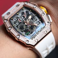 Best Edition 11- 03 Rose Gold Diamond Bezel Skeleton Dial Big...
