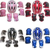 Jungen-Mädchen-Kinder-Schutzhelm Knie Ellbogenschützer Set für Fahrrad Skate Fahrrad MTB