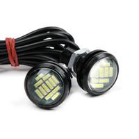 10PCS السيارات LED النسر أضواء عين مصباح DC 12V 15W 22mm و النسخ الاحتياطي عكس DRL الضباب ضوء النهار تشغيل أضواء السيارات الإشارة إشارة ضوئية النسخ الاحتياطي DRL