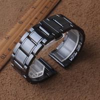 Haute qualité Bracelet Montre Bracelet Bracelet bande céramique noire nouvelle spéciale arrivée Accessoires Voir 20 mm 21 mm 22 mm 23 mm 24 mm pour engrenages s2 s3
