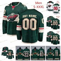 Custom Minnesota Wild # 64 Mikael Granlund 22 Nino Niederreiter 10 Marian Gaborik 44 Matt Bartkowski Homens Mulheres Crianças Juventude Hóquei Jerseys