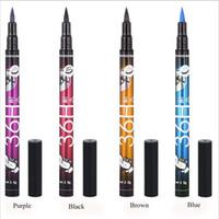 Красота водонепроницаемый длительный подводка для глаз 4 цвета жидкость подводка для глаз ручка карандаш глаз Макияж косметический инструмент LLA80