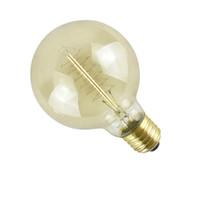 Урожай Эдисон Лампочка, G80 Диммируемого ретро Эдисон лампы 40W старомодным Стиль лампа E27 110V 220V Спираль лампа накаливания