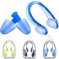 부드러운 실리콘 수영 코 클립 + 2 귀 플러그 이어 플러그 세트 풀 액세서리 수상 스포츠 수영 도구