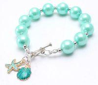 INS 15 couleurs enfants Bijoux Bracelet Perles couleur solide Pineapple Charms arc bracelet mignon conception bracelet princesse pour fille cadeau bijoux