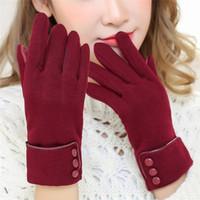 New Moda feminina Luvas Outono Inverno bonito Bow Aqueça mais quente do dedo Mitts completa Luvas Mittens Mulheres Cashmere fêmeas