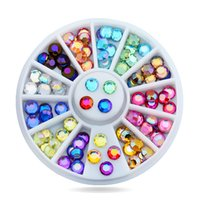 1 scatola 72pcs nail art multicolor 3d glitter ab strass wheel fai da te strass perline design unghie bellezza decorazioni