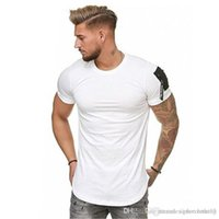 19ss Mens Summer Sports Tshirts Zipper Designer Sleeves O-neck White Blue Khaki Black Tees