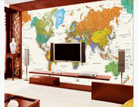 Customized 3d mural wallpaper photo wall paper Personality nostalgia world map living room TV mural background wall Paper for walls 3d
