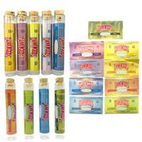Dankwoods Boş Preroll Cam Tüp Etiketler Ile Dank Ahşap Cork Borosilikat Cam Dankwood 120 * 21mm Ön Rulo E Sigara Buhar Tüpleri Vapes