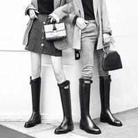 concepteur 2luxury Top qualité Femmes gaufrage Lettre Casual longues bottes en cuir noir véritable LAURÉAT PLATEFORME DESERT BOOT birkin