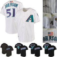 Arizona 51 Randy Johnson 9 Matt Williams 20 Luis Gonzalez Mens Womens Gençlik Geri Dönüş Diamondbacks Beyzbol Formalar