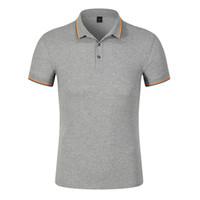 2020 chemises d'affaires de la mode pour hommes hauts vêtements été chemises pour hommes de camisa occasionnels Slim Fit marque T-shirt uni Polos
