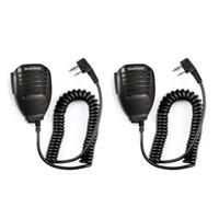 2PCS Baofeng UV5R microfono portatile altoparlante del MIC per Baofeng Radio portatile UV5R BF-888s BF-UVB3 Inoltre Walkie Talkie