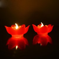 로맨틱 연꽃 밤 빛 플라스틱 모방 연꽃 LED 밤 빛 소원 램프 홈 장식 ZC1340