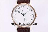 MKS Top 5177BB Наручные часы Extra-Thin Swiss Cal.777Q Автоматический сапфировый керамический циферблат Корпус из розового золота с ремешком из кожи аллигатора Мужские часы