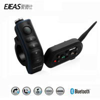 EJEAS E6 Plus-Motorrad Intercom 1200M Communicator Bluetooth Helm Sprech Headsets VOX mit Fernbedienung für 6 Riders