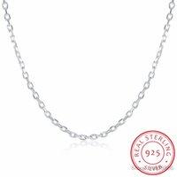 """Joyería fina 925 cadena de plata de ley plana ROLO Lekani mujer del collar del encanto del collar de plata 2MM ancha de 16 """"18"""" 20"""" 22"""" 24"""""""