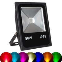 LED Slim RGB LED Flood Light with IR Remote Controller AC85-...