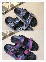 Sıcak Satış-Ünlü sandalet erkek moda yaz terlik erkekler rahat kaliteli daireler makosenler