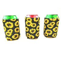 Sunflower Can Cooler Neoprene Can Koozie Foldable Stubby Hol...