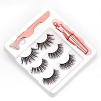 NEW 3D Magnetic eyelashes and Tweezer 3 Pairs 5 Magnetic Fal...