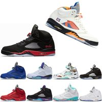 2019 Fresh Prince 5 wings 5s PSG nike Jordan Jordans air jordan jordans retro Retro Nero uomo casual Scarpe Laney oreo argento OG Grape Space Jam uomo sport 11 11s Sneakers 36-47