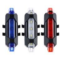Luci a LED per bicicletta portatile Vendita calda Usb Ricaricabile Bici per bicicletta Posteriore Safety Warning Luce fanale posteriore Lampada Super Bright