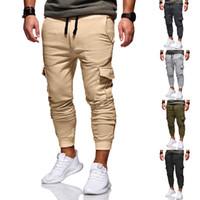 Hommes Casual Survêtement desserrées Sport Fit jogging Joggers Sweat Cargo Pantalons Pantalons