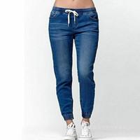 Pantalon Jogger Casual 2019 élastiques sexy Skinny Jeans Crayon pour les femmes Leggings Jeans Denim femme taille haute cordonnet Pantalons