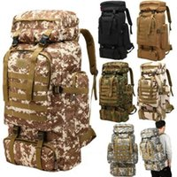 60L Large Climbing Oxford Backpack Cadet Tactical Hiking Tra...