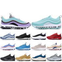 Max 97 2019 Yanardöner UNDEFEATED Üçlü beyaz erkek koşu ayakkabı siyah Gümüş Bullet Metalik Altın Güney Plaj Erkek kadın spor Sneakers 36-45