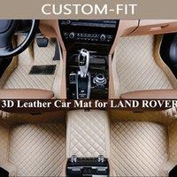 Custom Car Floor Mats para Land Rover LR2 LR3 descoberta esporte Range Rover Freelander evoque Todos Modelo Tapete Alfombra Coche
