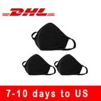 Fashion Protective Face Masks Unisex Black Dust Cotton cloth Mouth Masks Washable Reusable Masks