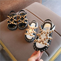 Vieeoease Girls Sandalias Pearl Rivet Kids Shoes 2019 Summer Hollow Beach Princess Shoes Roman Shoes CC-376