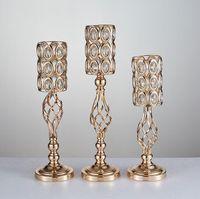 Hochzeit Requisiten vergoldet Eisen Blumenvase Ware Bühne Hintergrund kreative Heimat europäischen Einrichtungsgegenständen Hochzeitsdekorationen