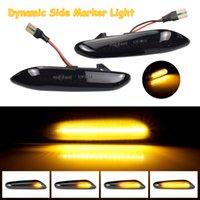 LED الحيوي الضوء بدوره إشارة الجانبية الحاجز ماركر متسلسل الضوء الوامض لسيارات BMW E60 E61 E90 E91 E81 E83 E84 E88 E92 E93 E46