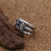 Anello in argento sterling 925 punk rock vintage personalizzato gioielli fatti a mano designer pugnale anello spada per regalo