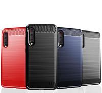 1,5 мм Текстура углеродного волокна Тонкий доспехи, щеткой TPU Cover для Xiaomi 9 9 SE Xiaomi Play Redmi Go 100 шт.
