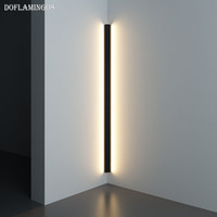 Modern Köşe LED Duvar lambası Minimalist Kapalı Işık Armatür Duvar Aplikleri Merdiven 100cm 150cm Yatak Başucu Ev Koridor Işık