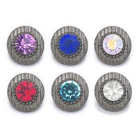 Moda 008 Flor 3D 12mm Botón A Presión de Metal Para Pulsera Collar de Joyería Intercambiable Mujeres Accesorio hallazgos