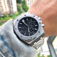 Neue Deluxe-Mann-Uhr Rose Gold Stanless Stahl 42mm Qualitäts-VK Chronograph Quarz-Bewegung Sport-Mann-Designer Uhren Orologio di Lusso
