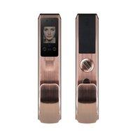 2020-New FX70 verrouillage brosse de mot de passe de porte anti-vol empreintes digitales serrure de la porte de reconnaissance faciale automatique ménage verrouillage du visage de reconnaissance faciale